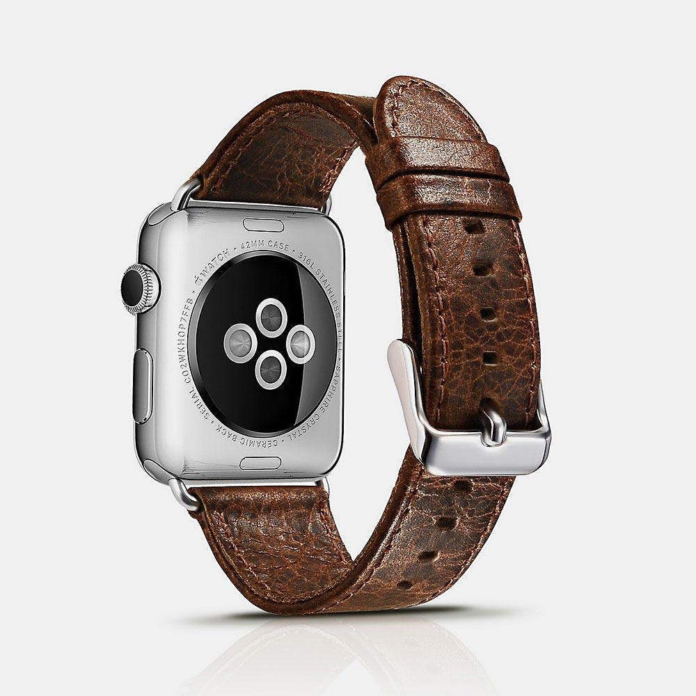 Řemínek pro Apple Watch 42mm / 44mm - iCarer, Classic Coffee