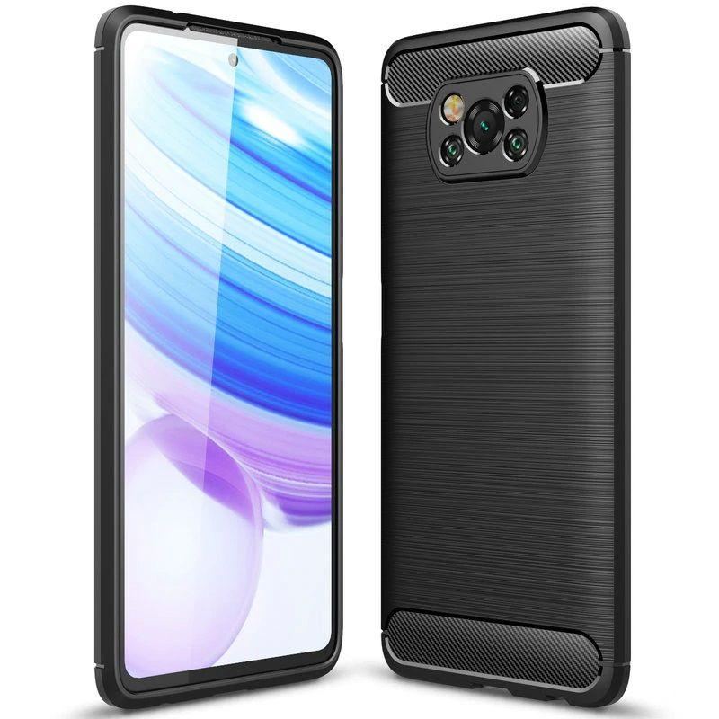 Ochranný kryt pro Xiaomi Poco X3 NFC - Tech-Protect, Tpucarbon Black