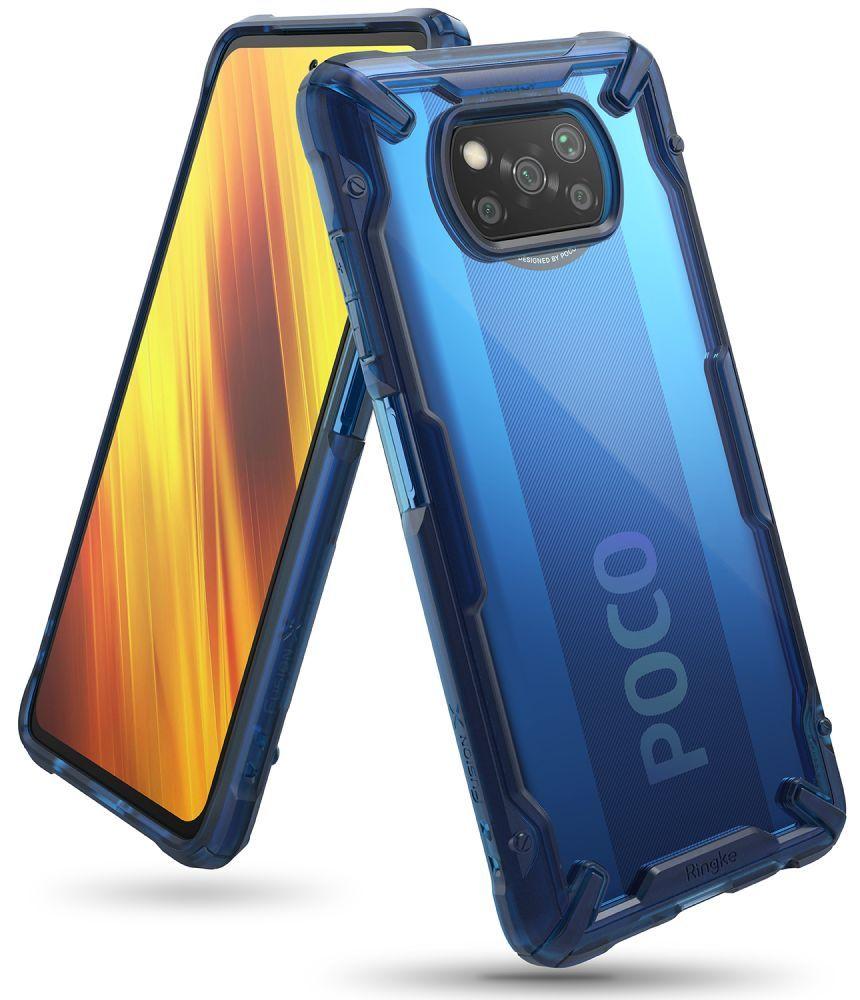 Ochranný kryt pro Xiaomi Poco X3 NFC - Ringke, Fusion-X Blue