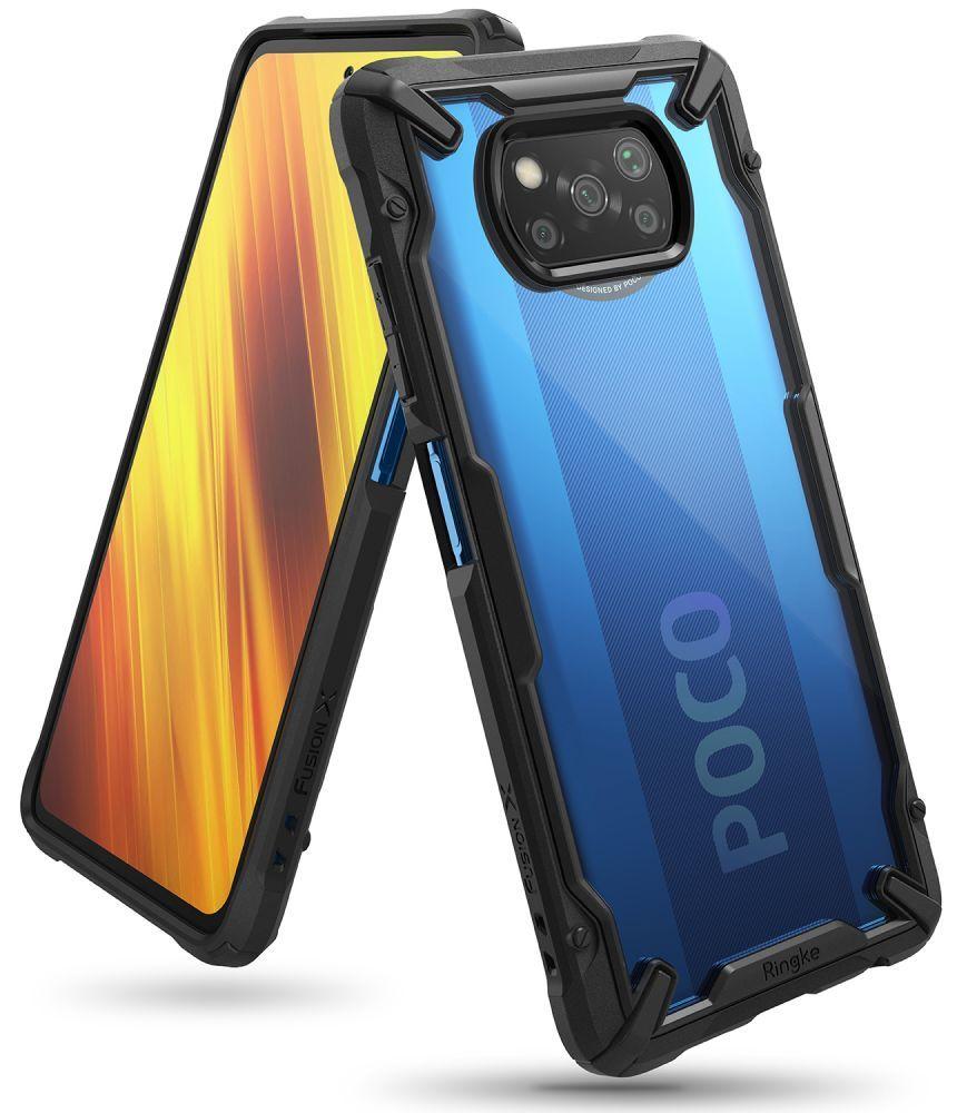 Levně Ochranný kryt pro Xiaomi Poco X3 NFC / X3 Pro - Ringke, Fusion-X Black