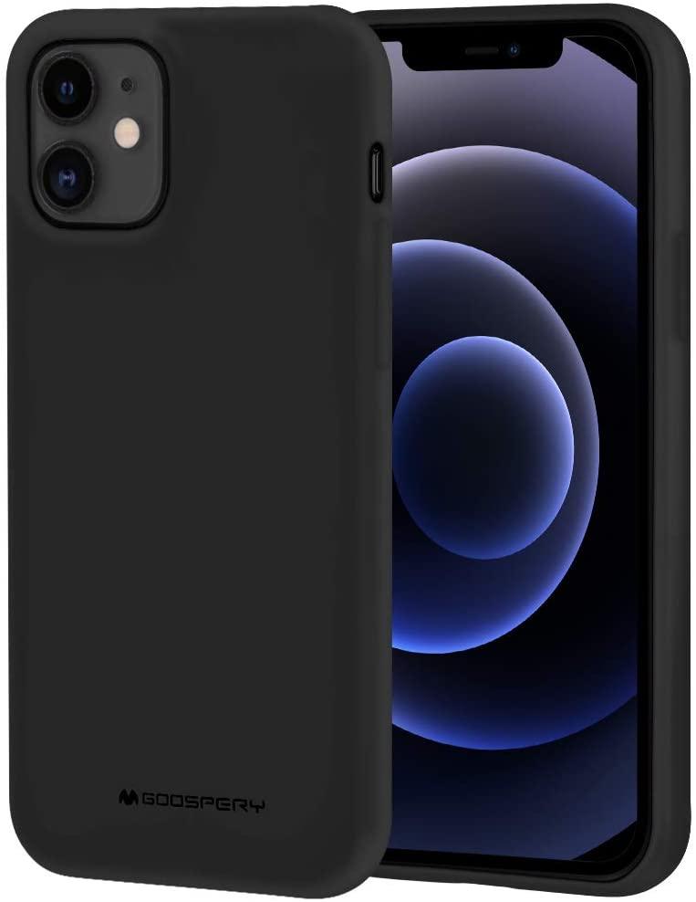 Levně Ochranný kryt pro iPhone 12 / 12 Pro - Mercury, Soft Feeling Black