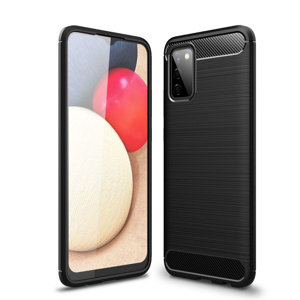 Levně Ochranný kryt pro Samsung Galaxy A02S - Tech-Protect, Tpucarbon Black