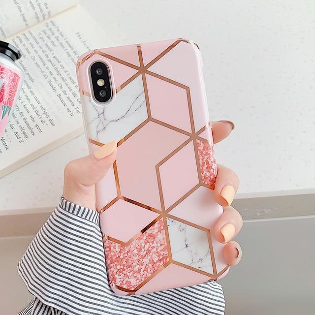 Ochranný kryt pro iPhone 6 / 6S - Geometric Pink