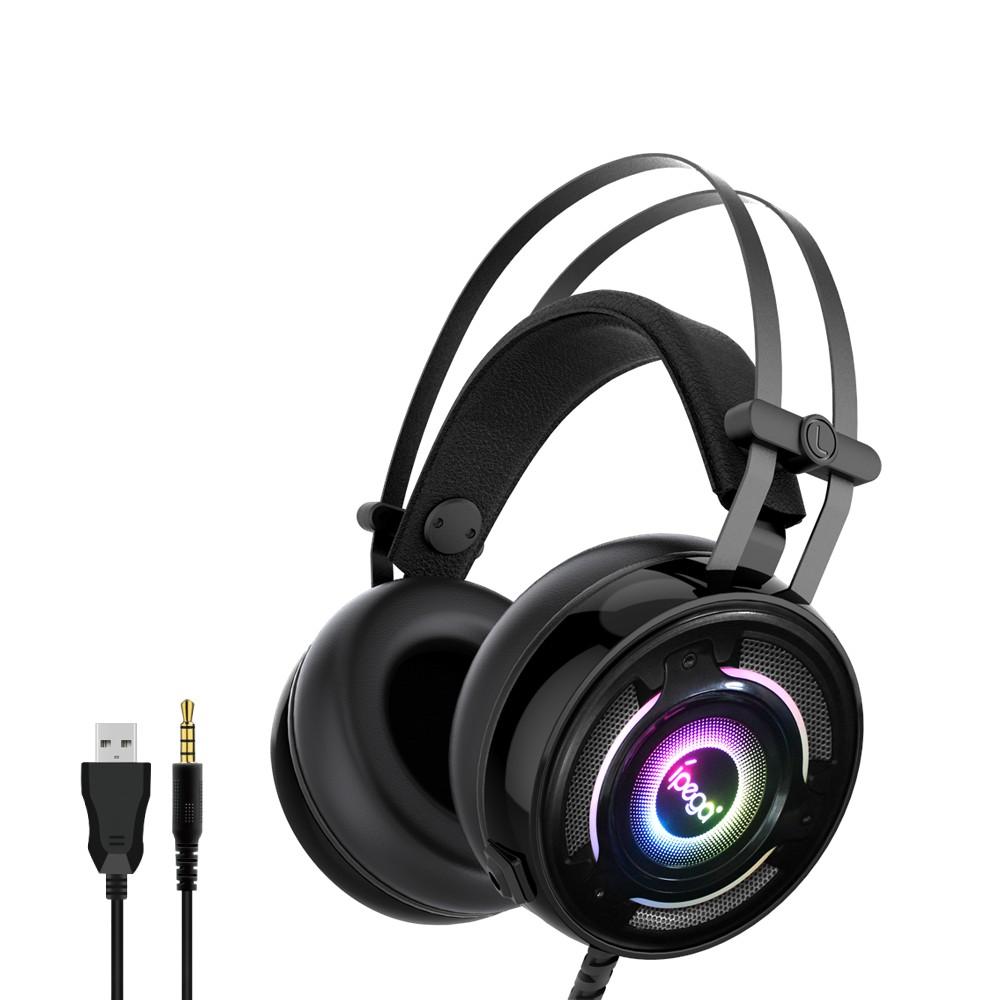 Herní sluchátka s mikrofonem - iPega, PG-R008 RGB