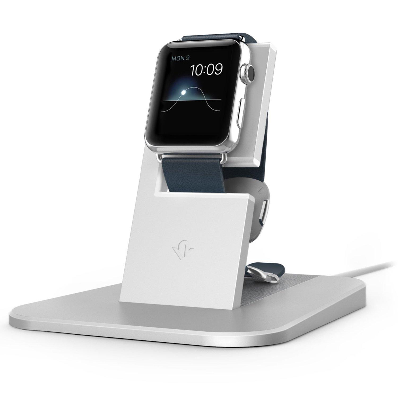 Hliníkový nabíjecí stojánek pro Apple Watch 38mm / 42mm - TwelveSouth, HiRise Silver