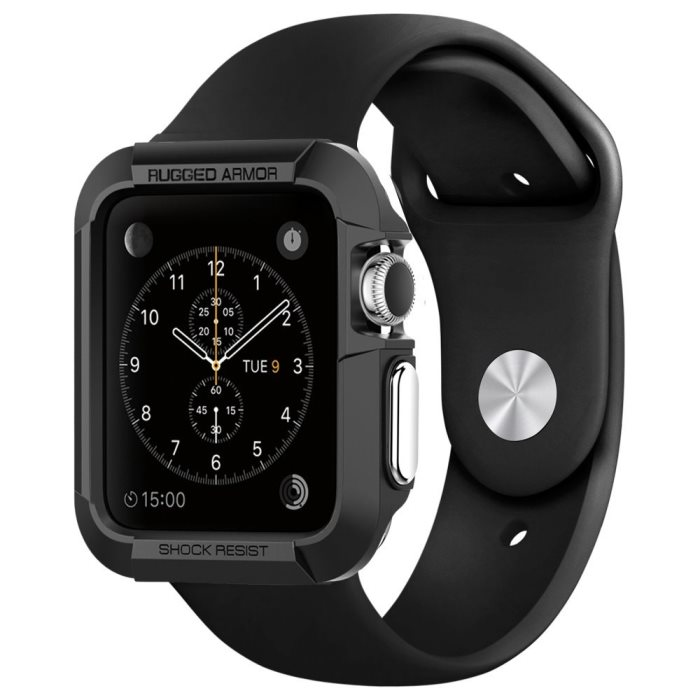 Pouzdro / kryt pro Apple Watch 42mm - Spigen, Rugged Armor Black
