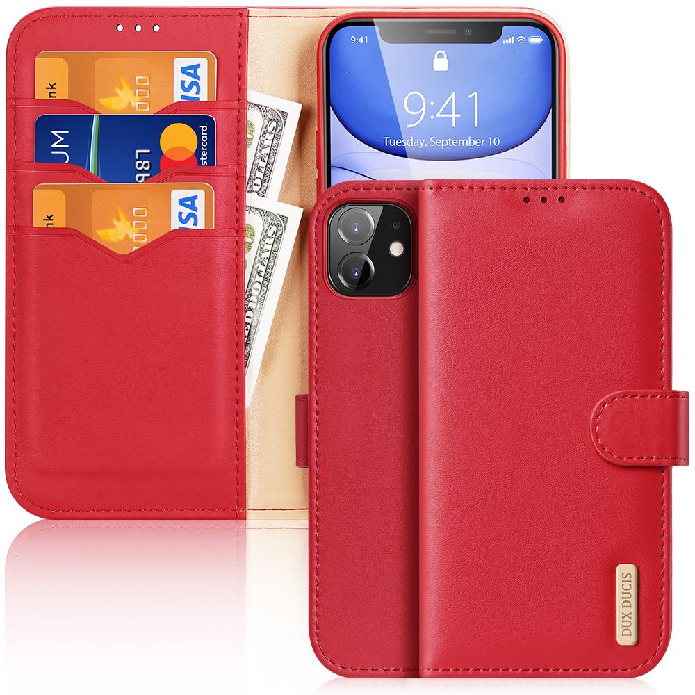 Knížkové pouzdro na iPhone 11 - DuxDucis, Hivo Red