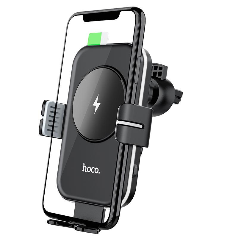 Levně Magnetický držák do auta / bezdrátová rychlá nabíječka - Hoco, CA80 Buddy
