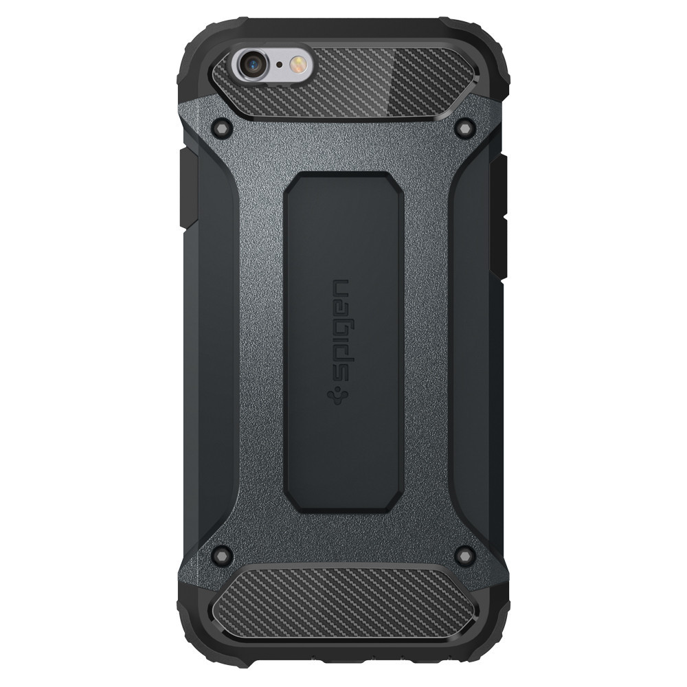 Pouzdro / kryt pro Apple iPhone 6 / 6S - Spigen, Tough Armor Tech Metal Slate