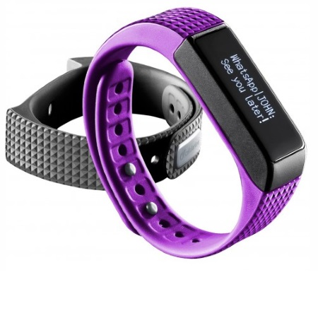Bluetooth fitness náramek s dotykovým displejem - CellularLine, EASYFIT TOUCH Purple - ROZBALENO