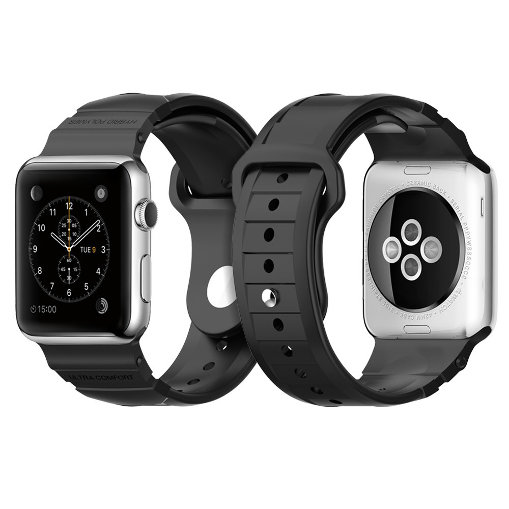 Gumový pásek / řemínek pro Apple Watch 42mm - Spigen, Rugged Band