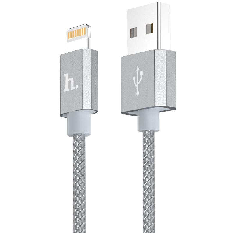 Certifikovaný kabel lightning pro iPhone a iPad - Hoco, UPF01 Grey