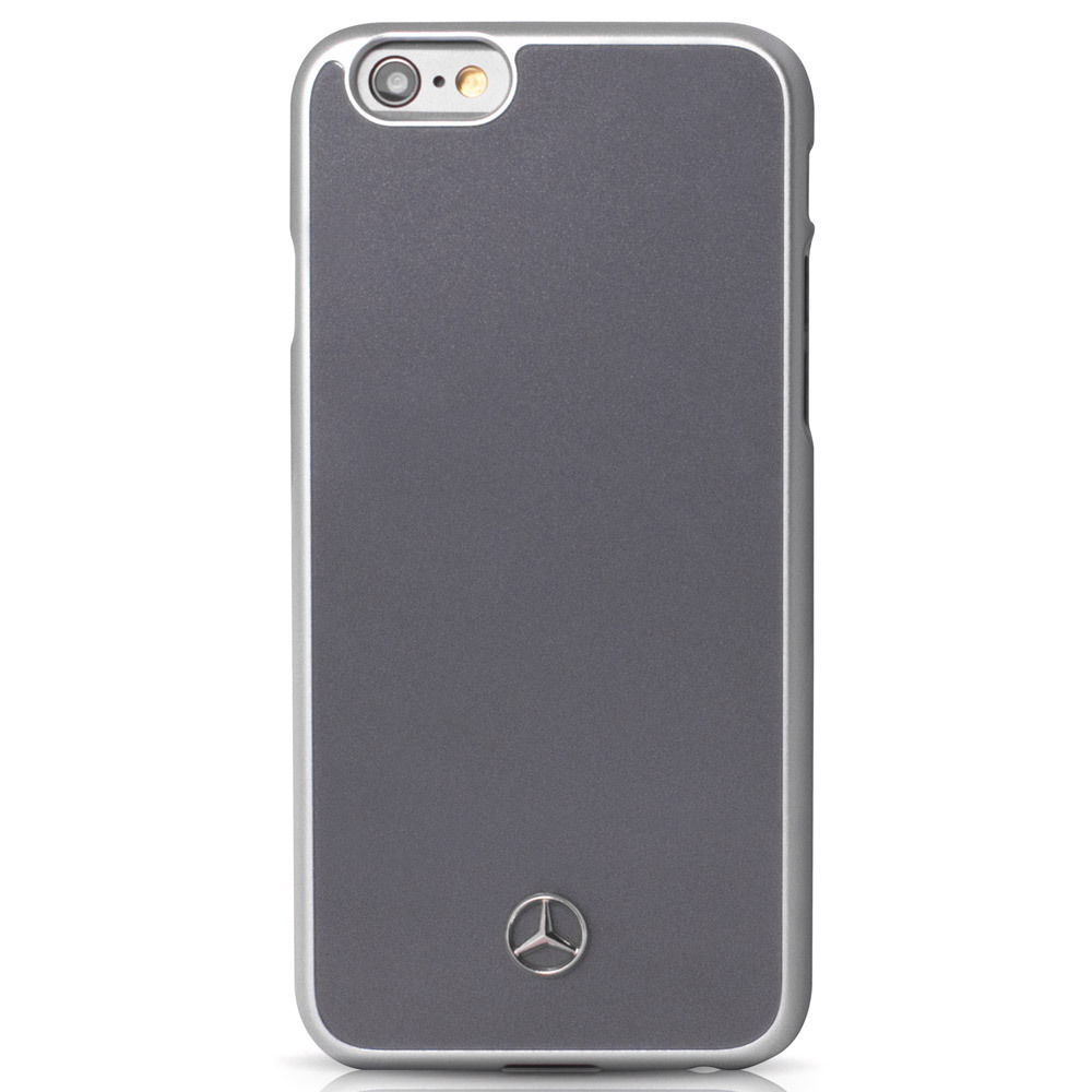 Pouzdro / kryt pro Apple iPhone 6 / 6S - Mercedes-Benz, Metallic Plate Grey