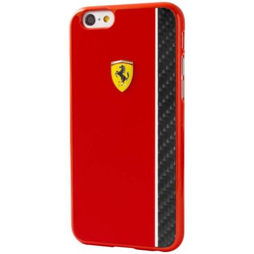 Pouzdro / kryt pro Apple iPhone 6 / 6S - Ferrari, Scuderia Red/Carbon - VÝPRODEJ