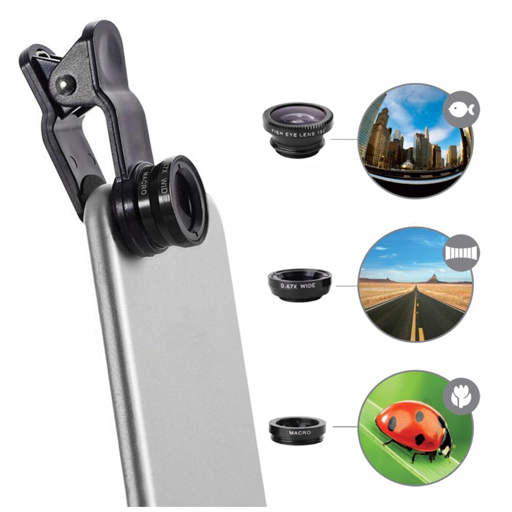 Objektiv 3v1 pro Apple iPhone - CELLY, Clip and Click