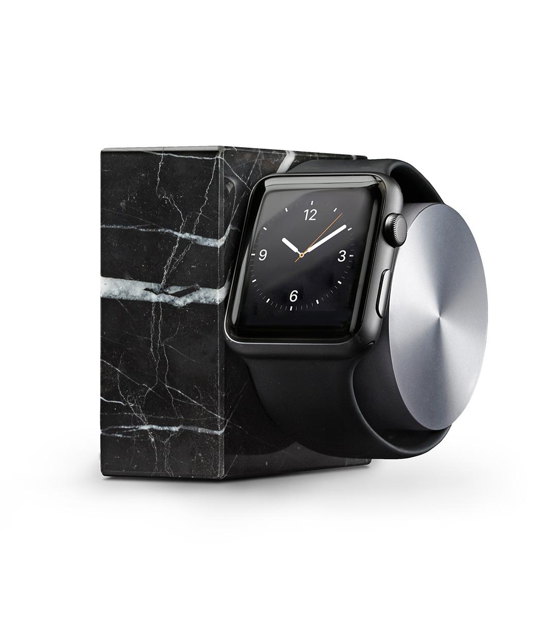 Nabíjecí stojánek pro Apple Watch 38mm / 42mm - Native Union, Dock Watch Marble Black