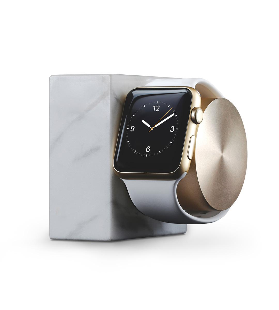 Nabíjecí stojánek pro Apple Watch 38mm / 42mm - Native Union, Dock Watch Marble White