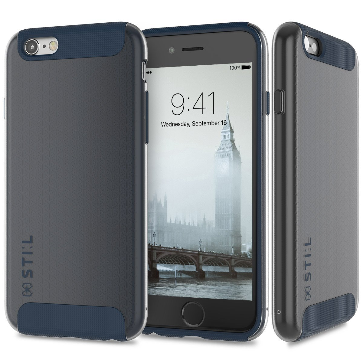 Pouzdro / kryt pro Apple iPhone 6 / 6S - STILMIND, LONDON FOG COBALT