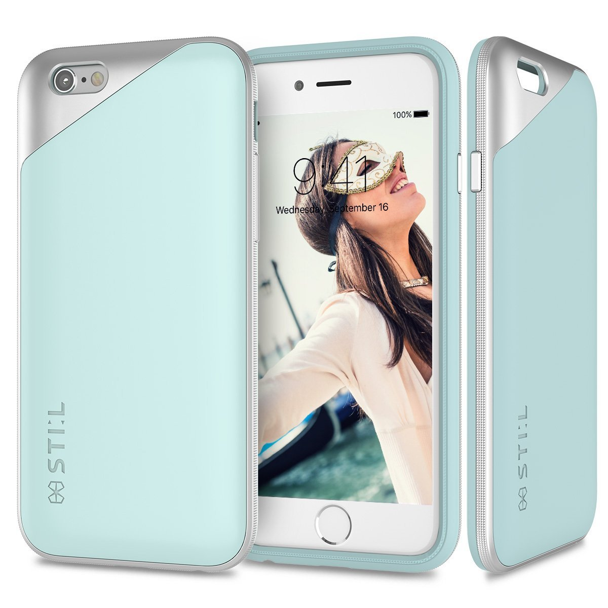 Pouzdro / kryt pro Apple iPhone 6 / 6S - STILMIND, MASQUERADE SKY BLUE