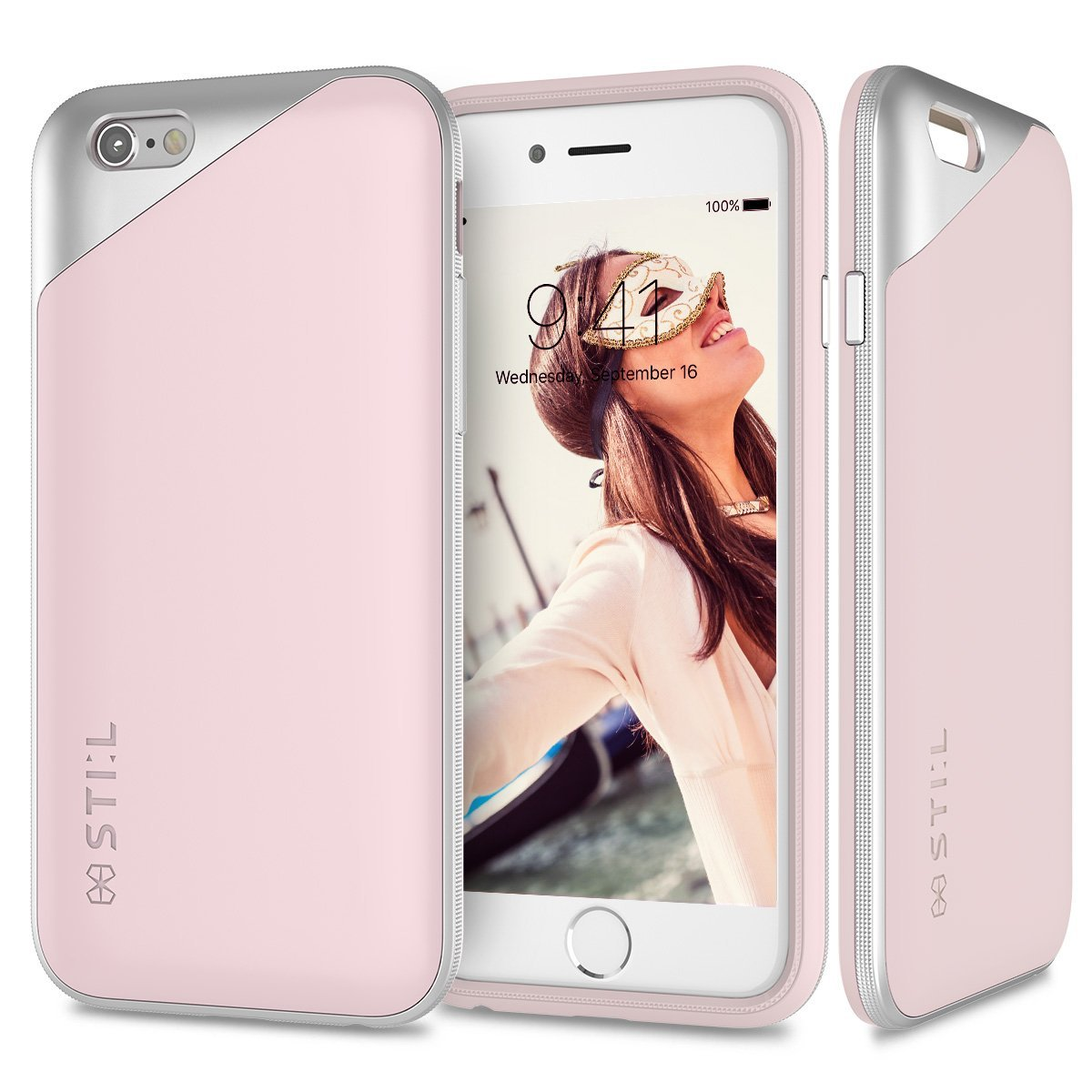 Pouzdro / kryt pro Apple iPhone 6 / 6S - STILMIND, MASQUERADE SOFT PINK