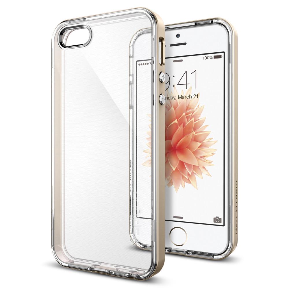 Pouzdro / kryt pro Apple iPhone 5 / 5S / SE - Spigen, Neo Hybrid Crystal Gold