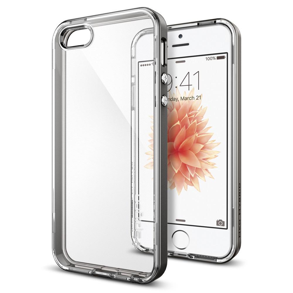 Pouzdro / kryt pro Apple iPhone 5 / 5S / SE - Spigen, Neo Hybrid Crystal Gunmetal
