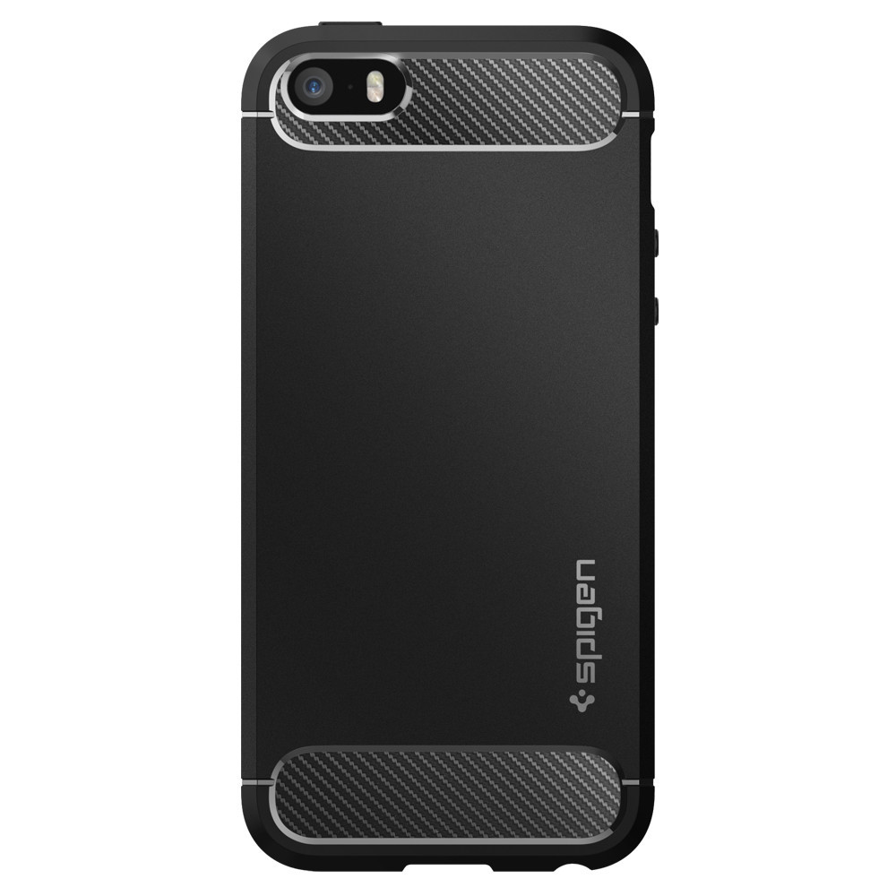Pouzdro / kryt pro Apple iPhone 5 / 5S / SE - Spigen, Rugged Armor Black