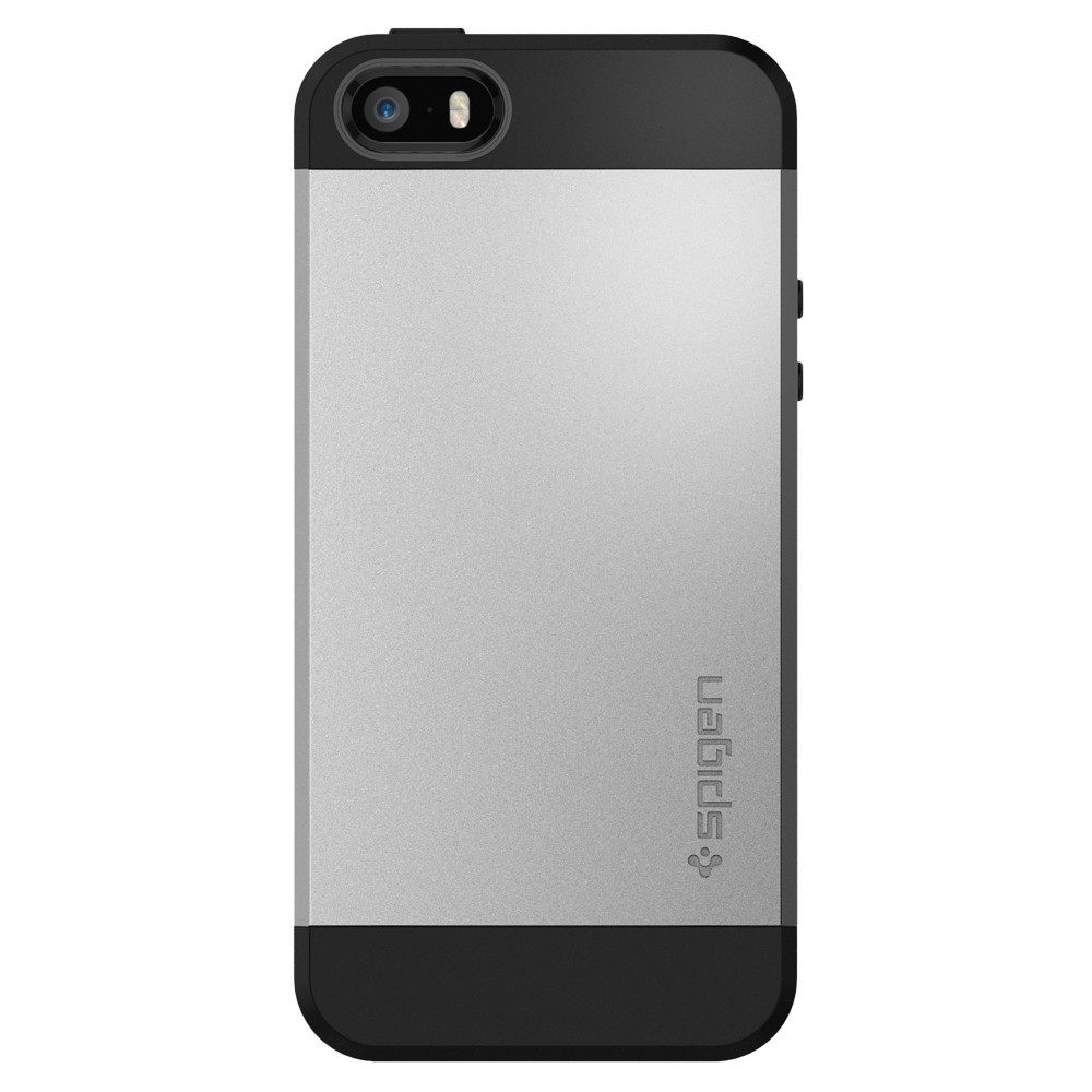Pouzdro / kryt pro Apple iPhone 5 / 5S / SE - Spigen, Slim Armor Satin Silver