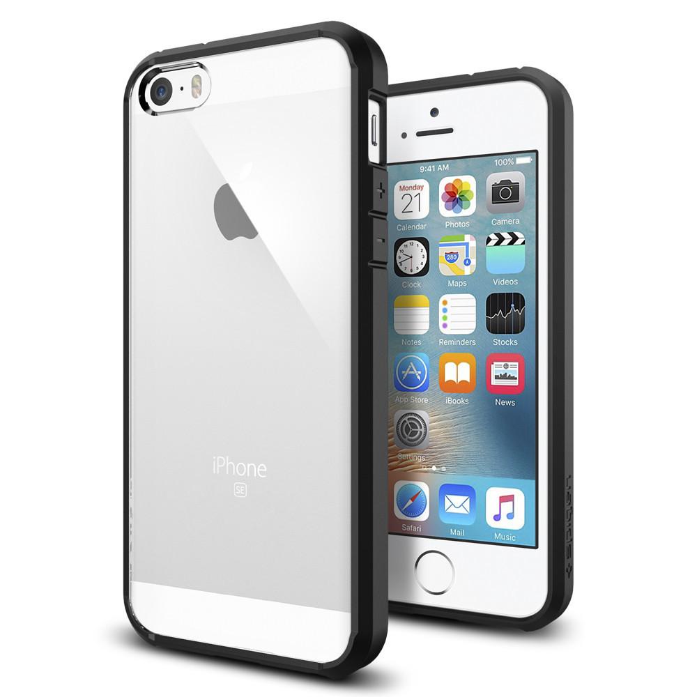 Pouzdro / kryt pro Apple iPhone 5 / 5S / SE - Spigen, Ultra Hybrid Black