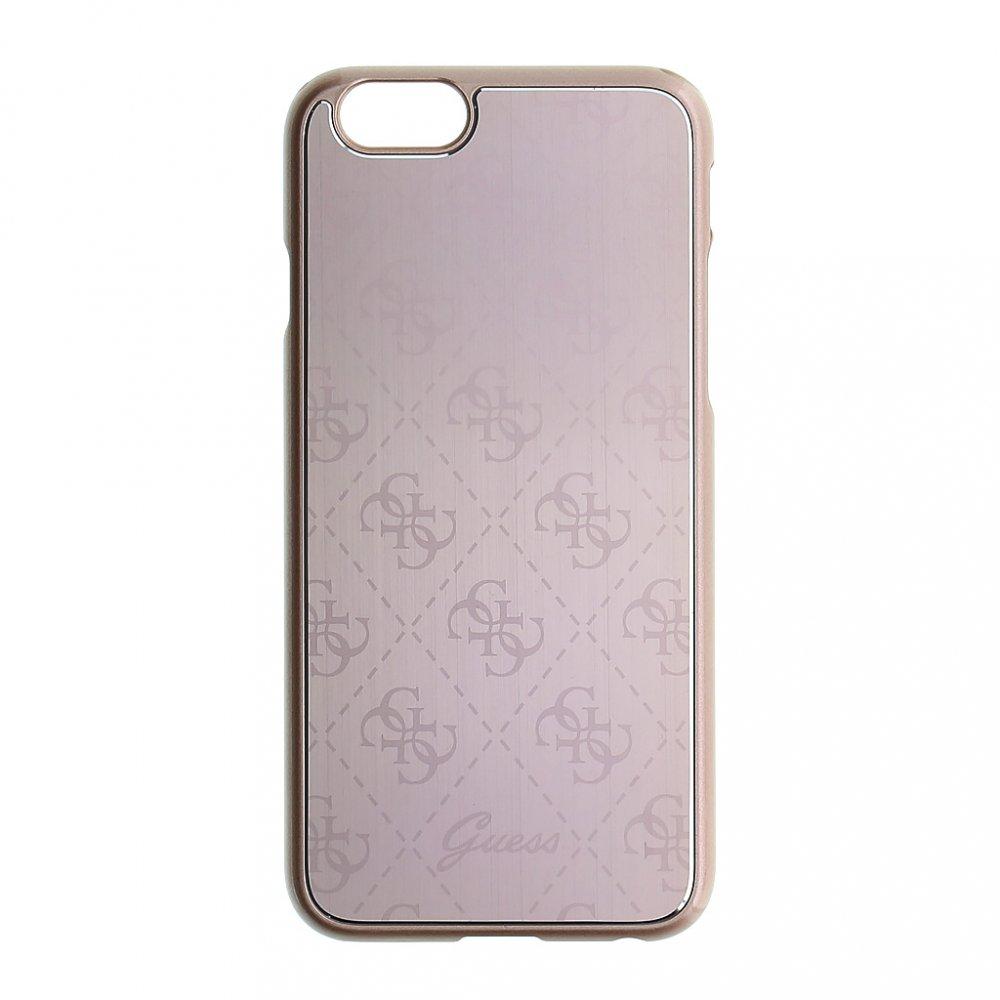 Pouzdro / kryt pro Apple iPhone 6 / 6S - Guess, 4G Aluminum Pink