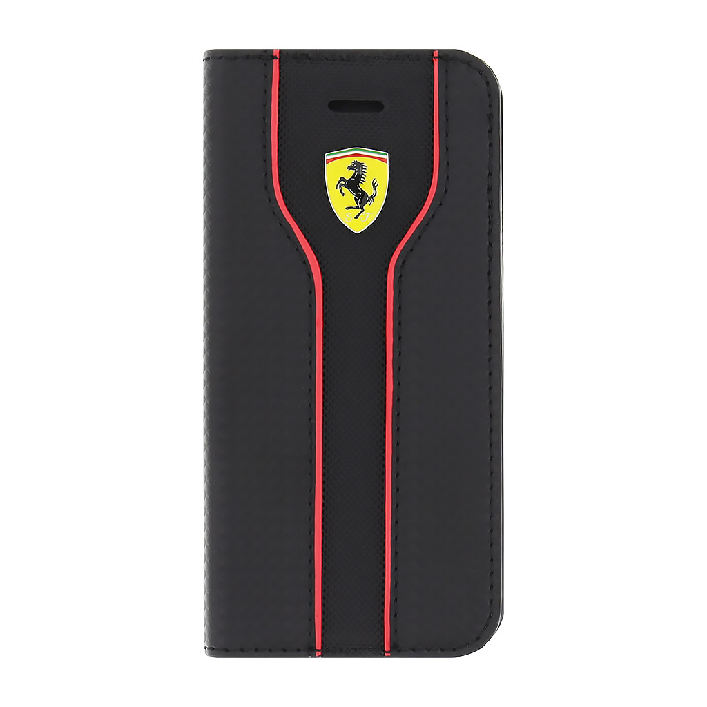 Pouzdro / kryt pro Apple iPhone 5 / 5S / SE - Ferrari, Racing Book Black