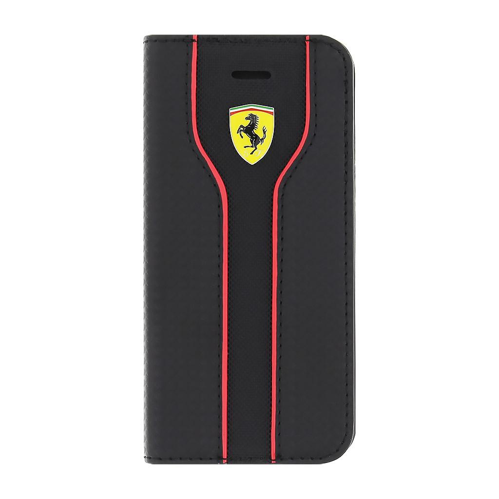 Pouzdro / kryt pro Apple iPhone 5 / 5S / SE - Ferrari, Racing Book Black
