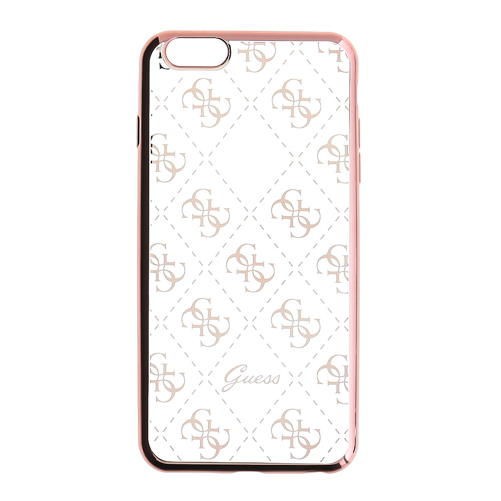 Pouzdro / kryt pro Apple iPhone 5 / 5S / SE - Guess, 4G TPU Rose Gold