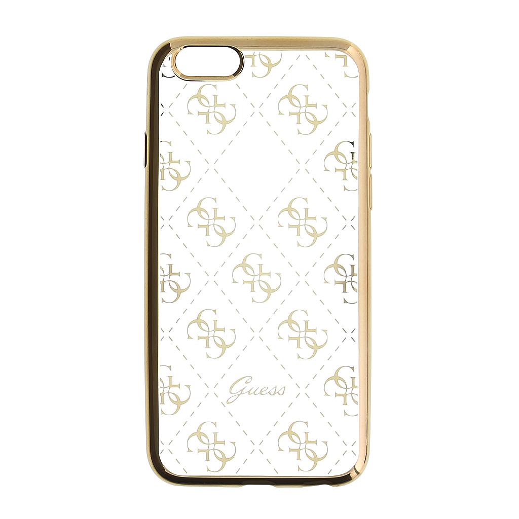 Pouzdro / kryt pro Apple iPhone 5 / 5S / SE - Guess, 4G TPU Gold