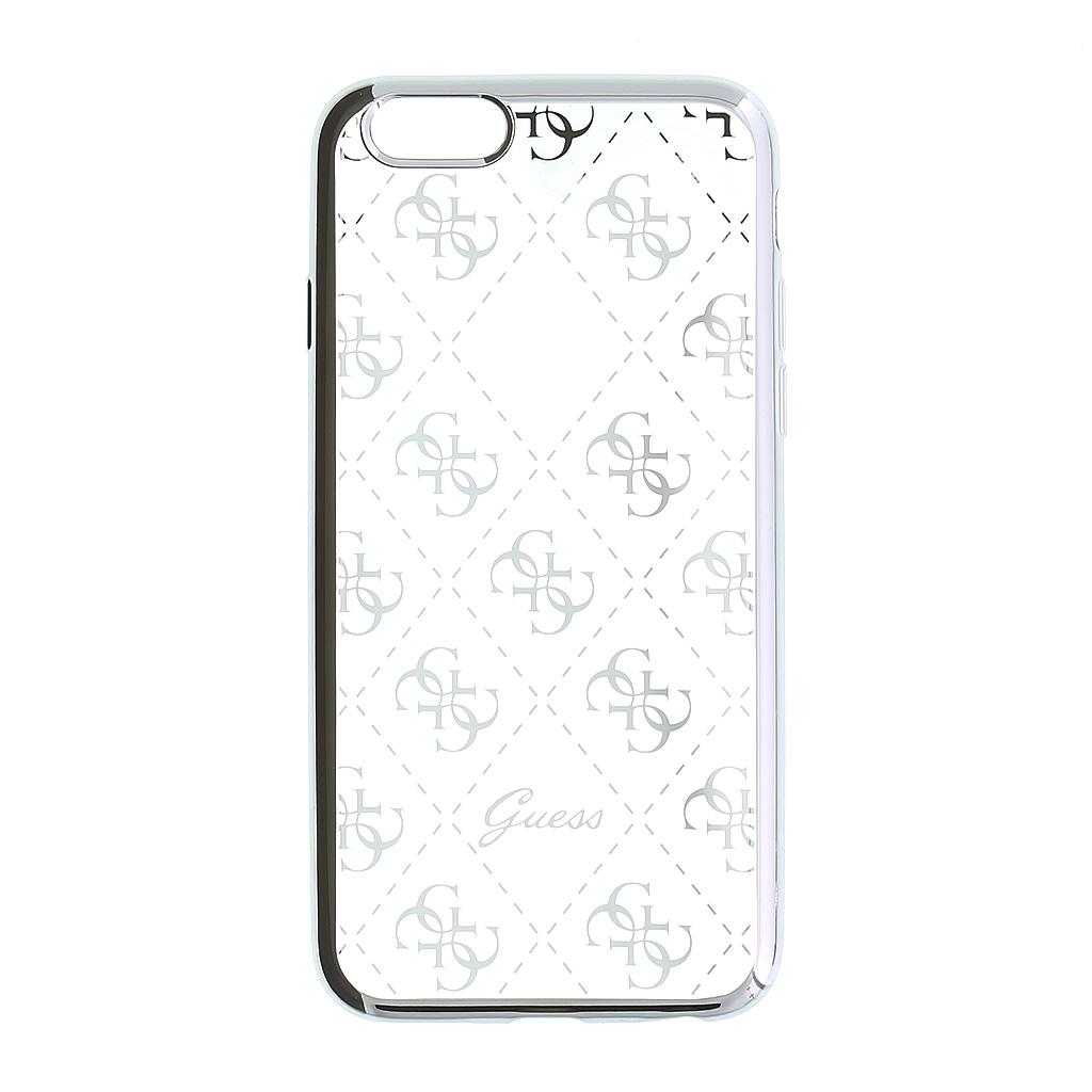 Pouzdro / kryt pro Apple iPhone 5 / 5S / SE - Guess, 4G TPU Silver