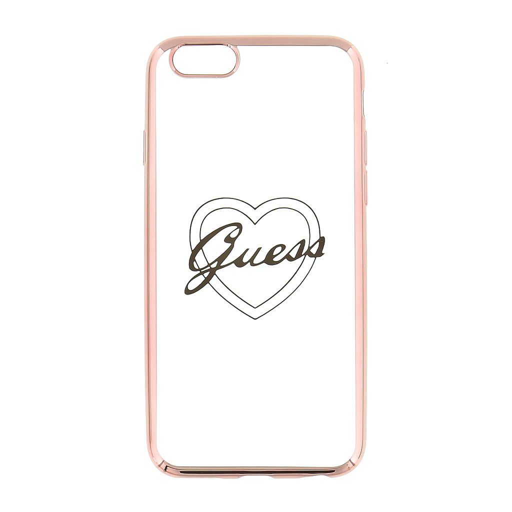 Pouzdro / kryt pro Apple iPhone 5 / 5S / SE - Guess, Signature TPU Rose Gold