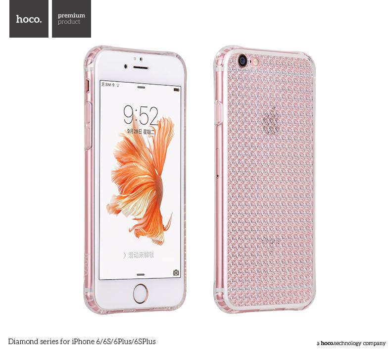 Pouzdro / kryt pro Apple iPhone 6 / 6S - Hoco, Diamond Clear