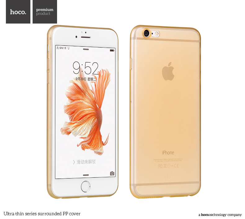 Pouzdro / kryt pro Apple iPhone 6 / 6S - Hoco, Surrounded Gold