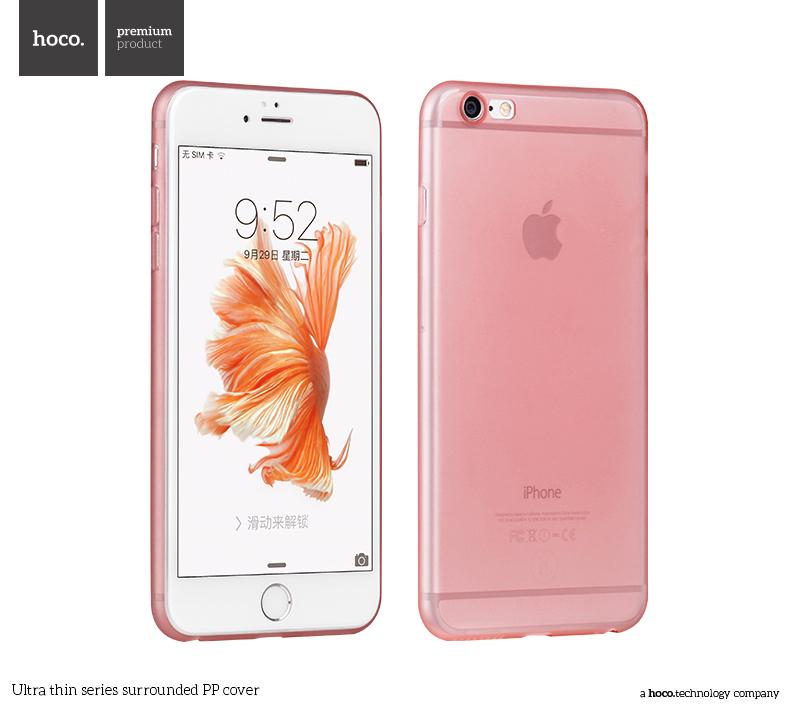 Pouzdro / kryt pro Apple iPhone 6 / 6S - Hoco, Surrounded RoseGold