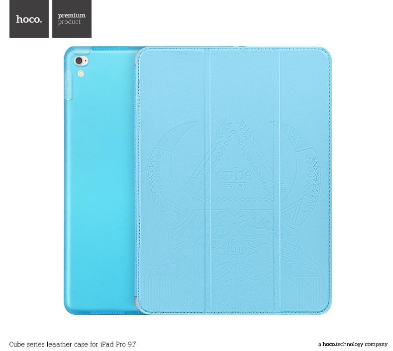 Pouzdro / kryt pro iPad Pro 9.7 (2016) - Hoco, Cube Blue