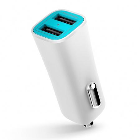Auto-nabíječka pro iPhone a iPad - iLuv, Smart Charger White