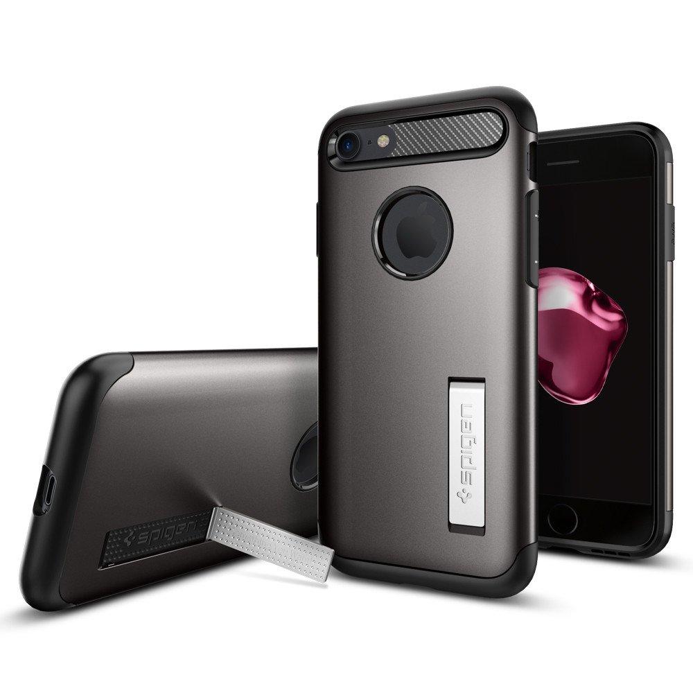 Pouzdro / kryt pro Apple iPhone 7 / 8 - Spigen, Slim Armor Gunmetal