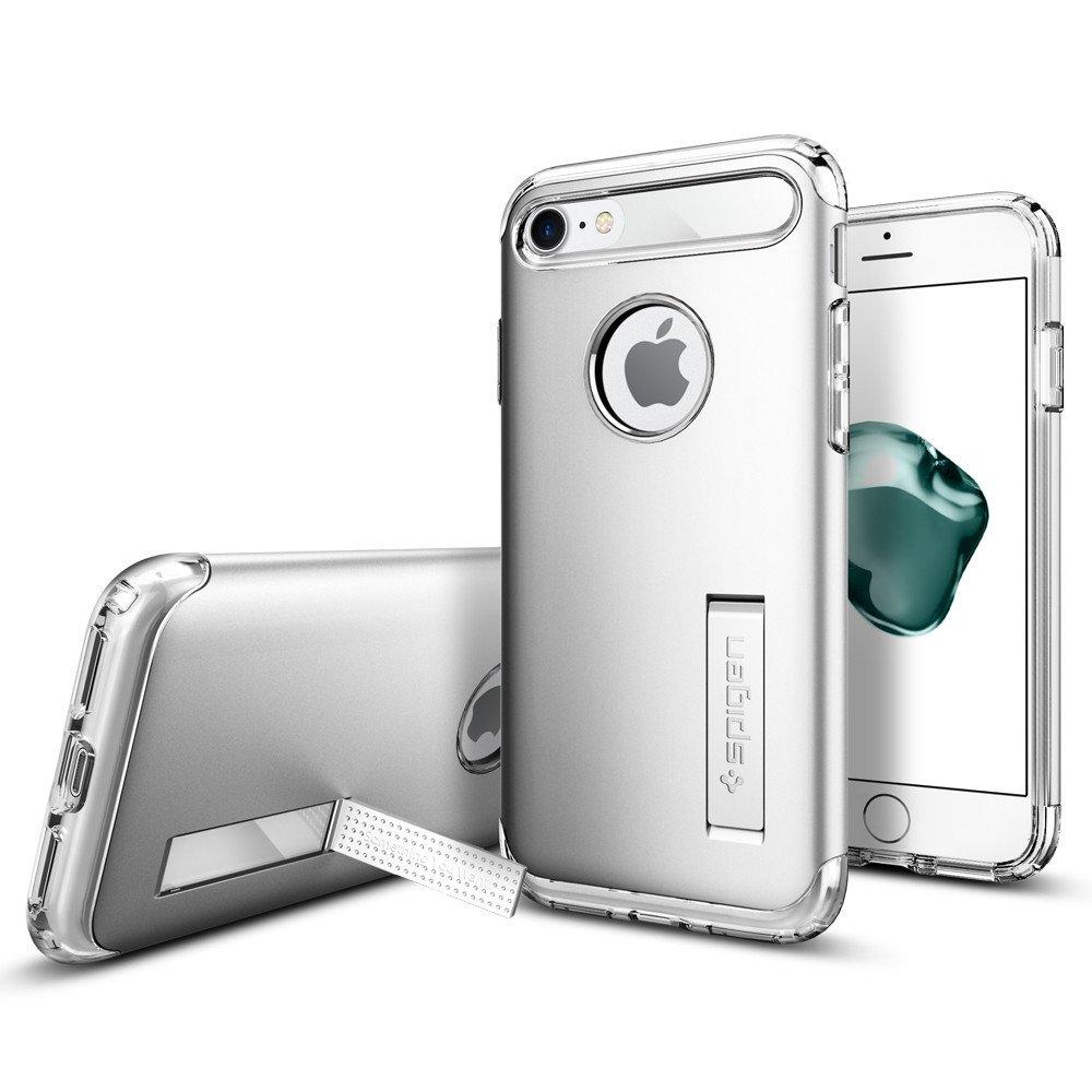 Pouzdro / kryt pro Apple iPhone 7 / 8 - Spigen, Slim Armor Satin Silver
