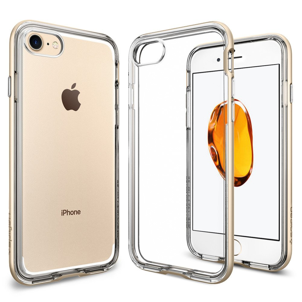Pouzdro / kryt pro Apple iPhone 7 / 8 - Spigen, Neo Hybrid Crystal Gold