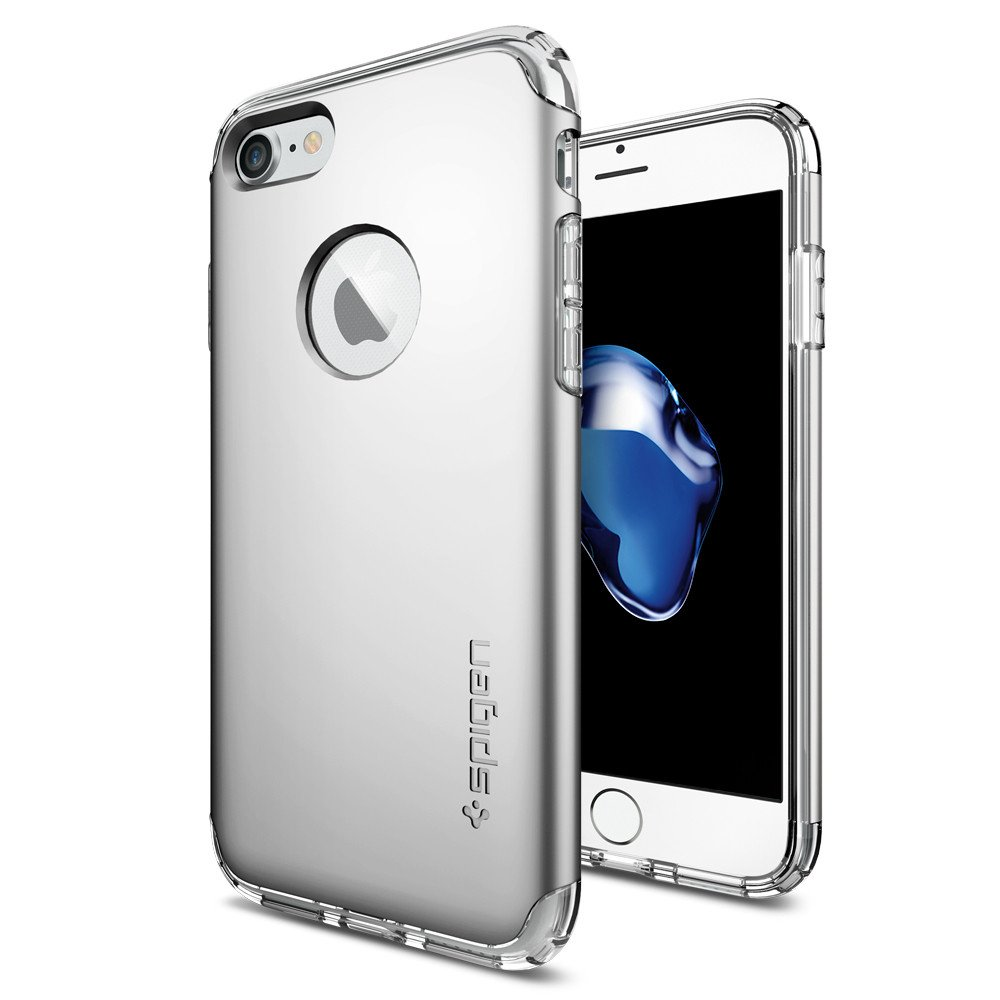 Pouzdro / kryt pro Apple iPhone 7 - Spigen, Hybrid Armor Satin Silver