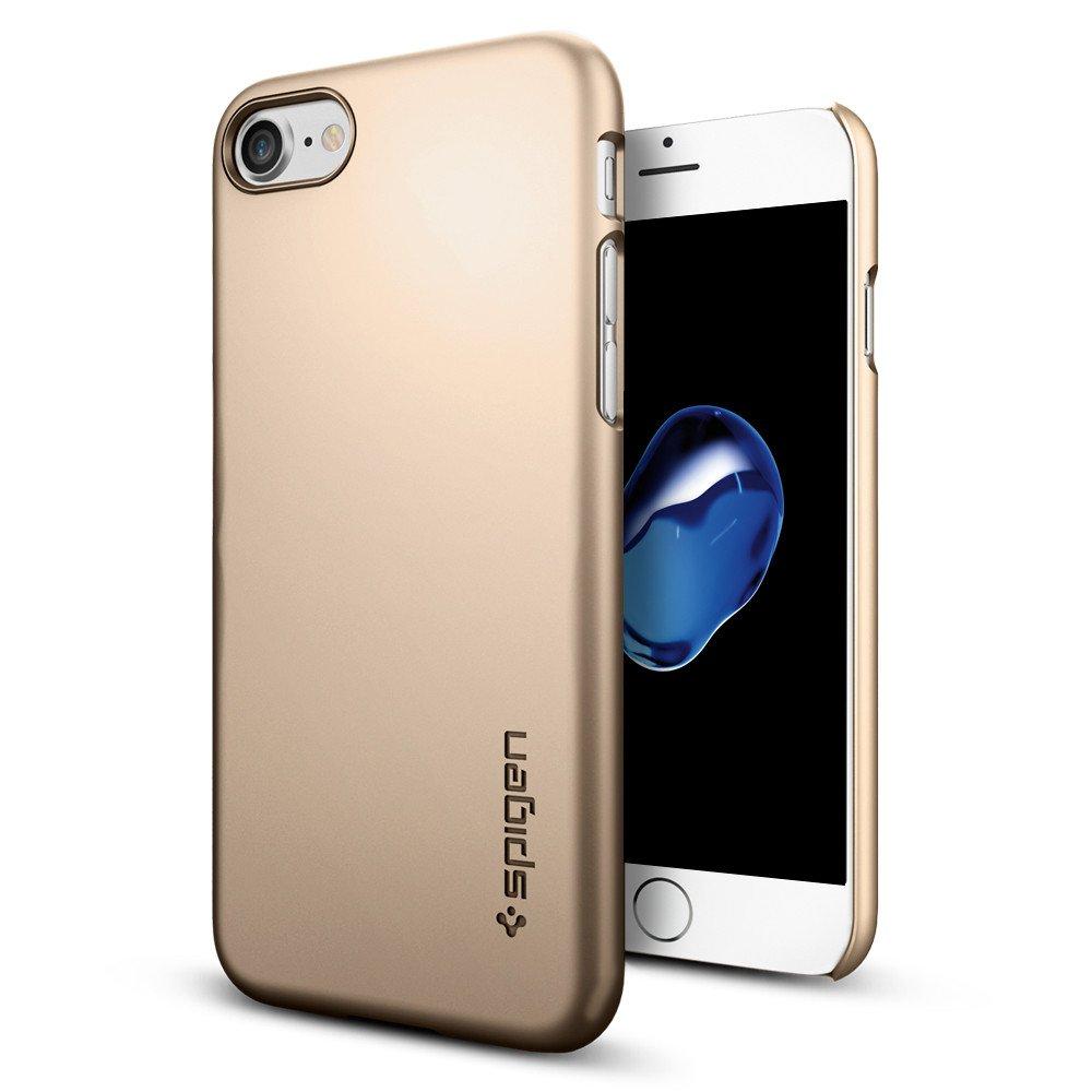 Pouzdro / kryt pro Apple iPhone 7 - Spigen, Thin Fit Champagne Gold