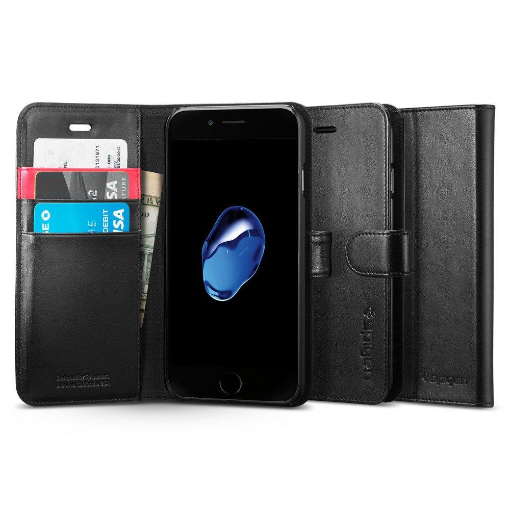 Pouzdro / kryt pro iPhone 7 - Spigen, Wallet S Black