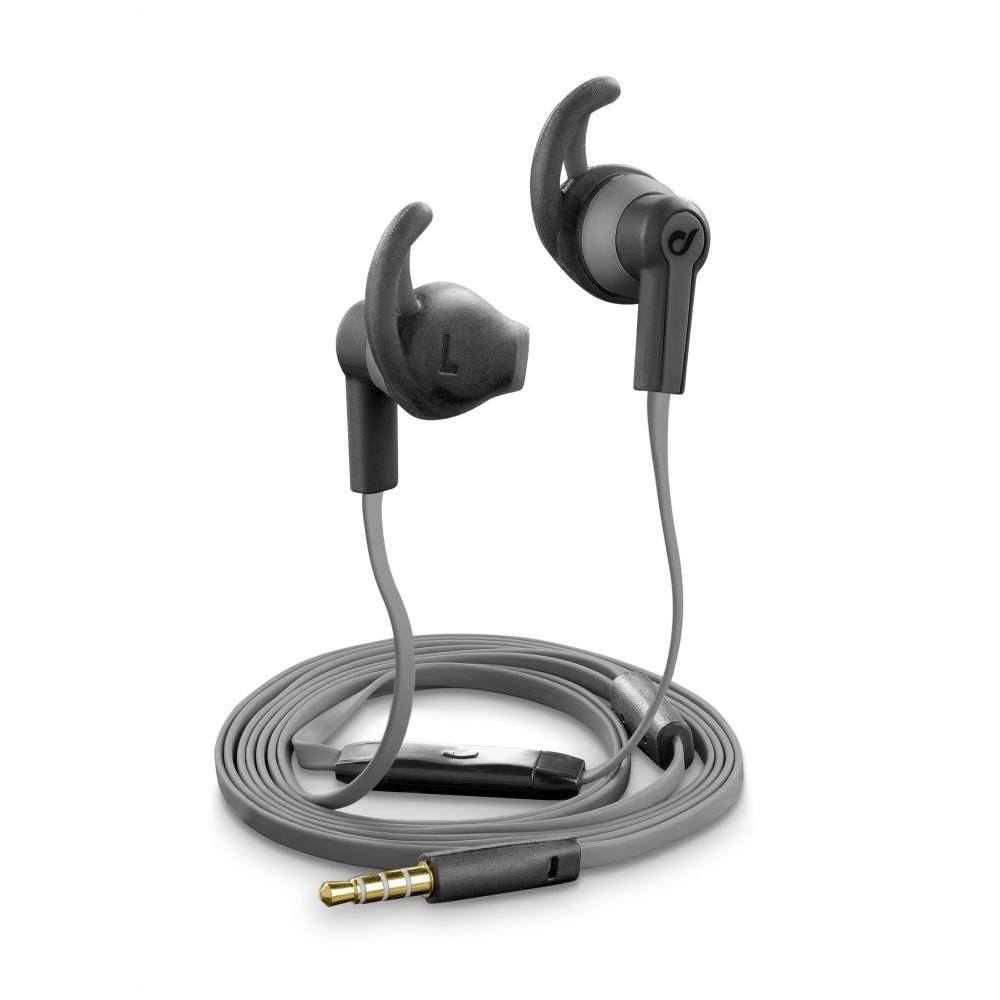 Sportovní sluchátka pro Apple iPhone a Apple iPad - CellularLine, WASP Black - VÝPRODEJ