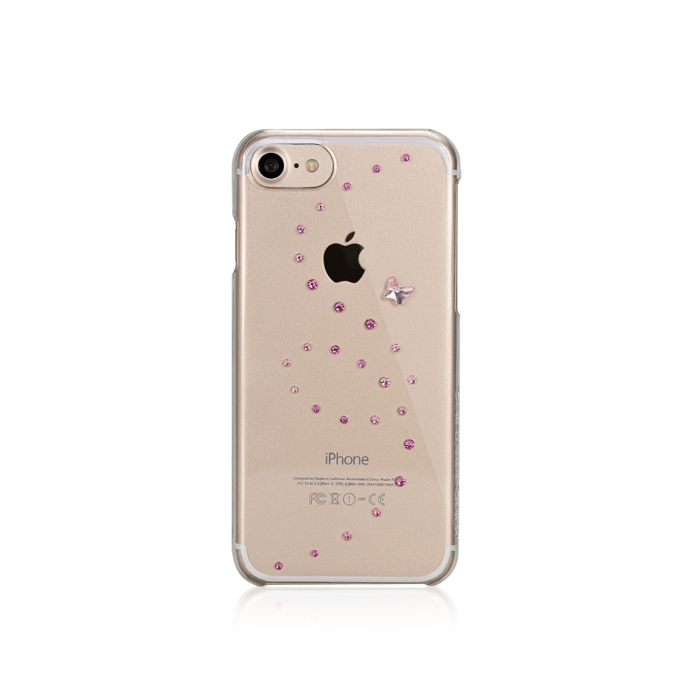 Pouzdro / kryt pro Apple iPhone 7 - Bling My Thing, Papillon Rose Sparkles