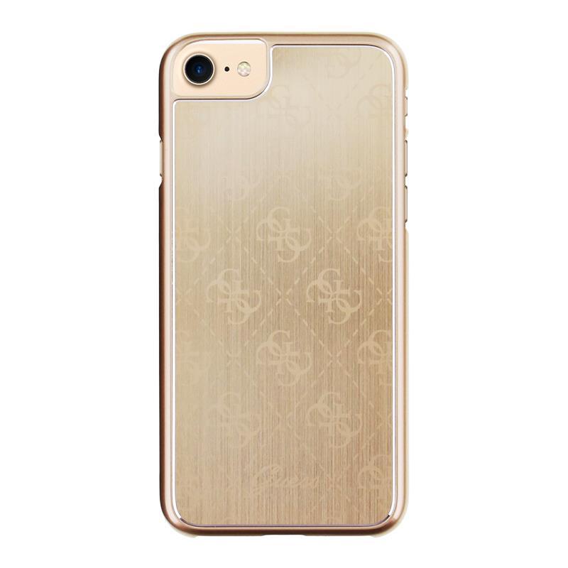 Pouzdro / kryt pro Apple iPhone 7 - Guess, 4G Aluminum Gold